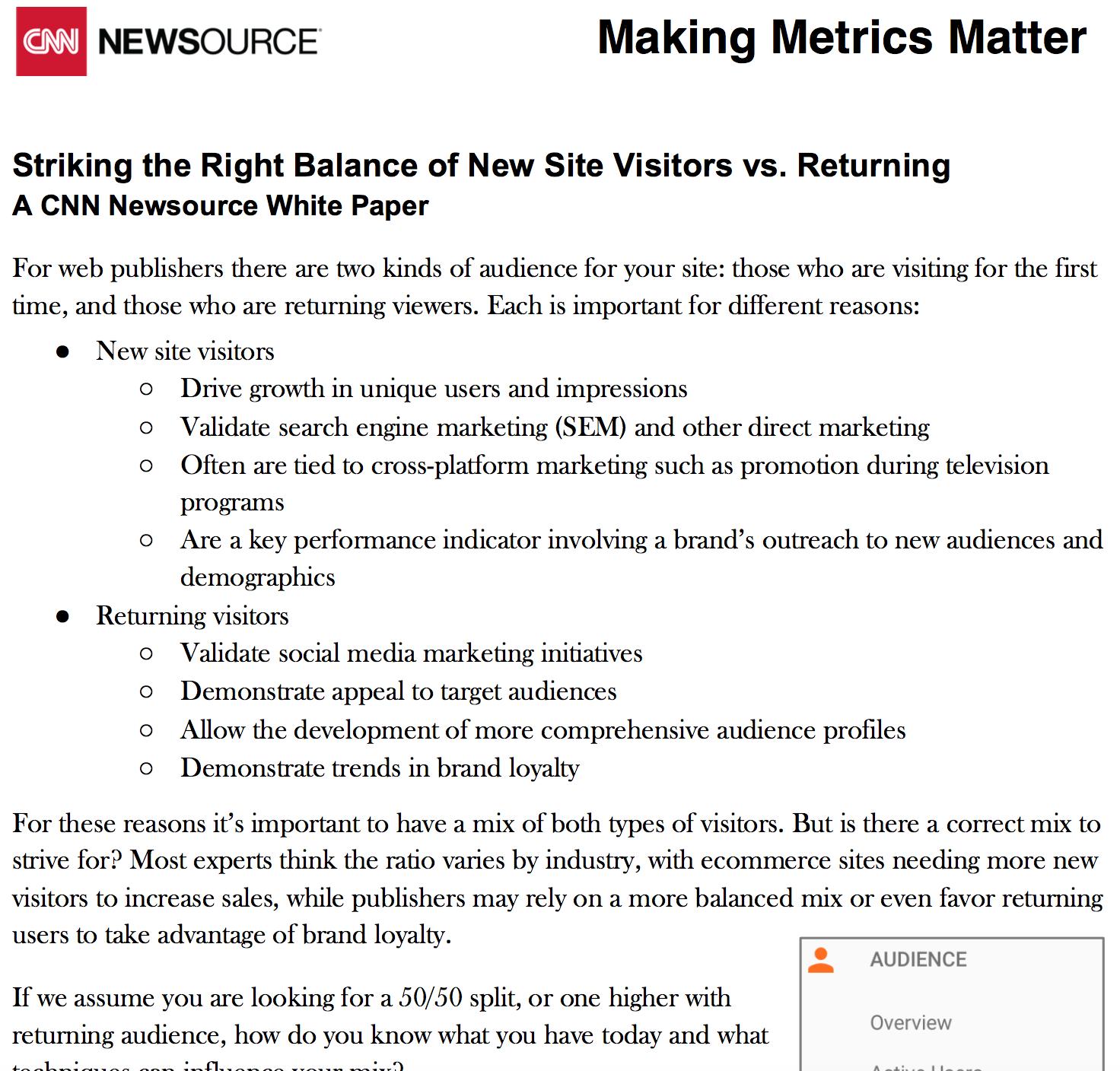 Making Digital Metrics Matter