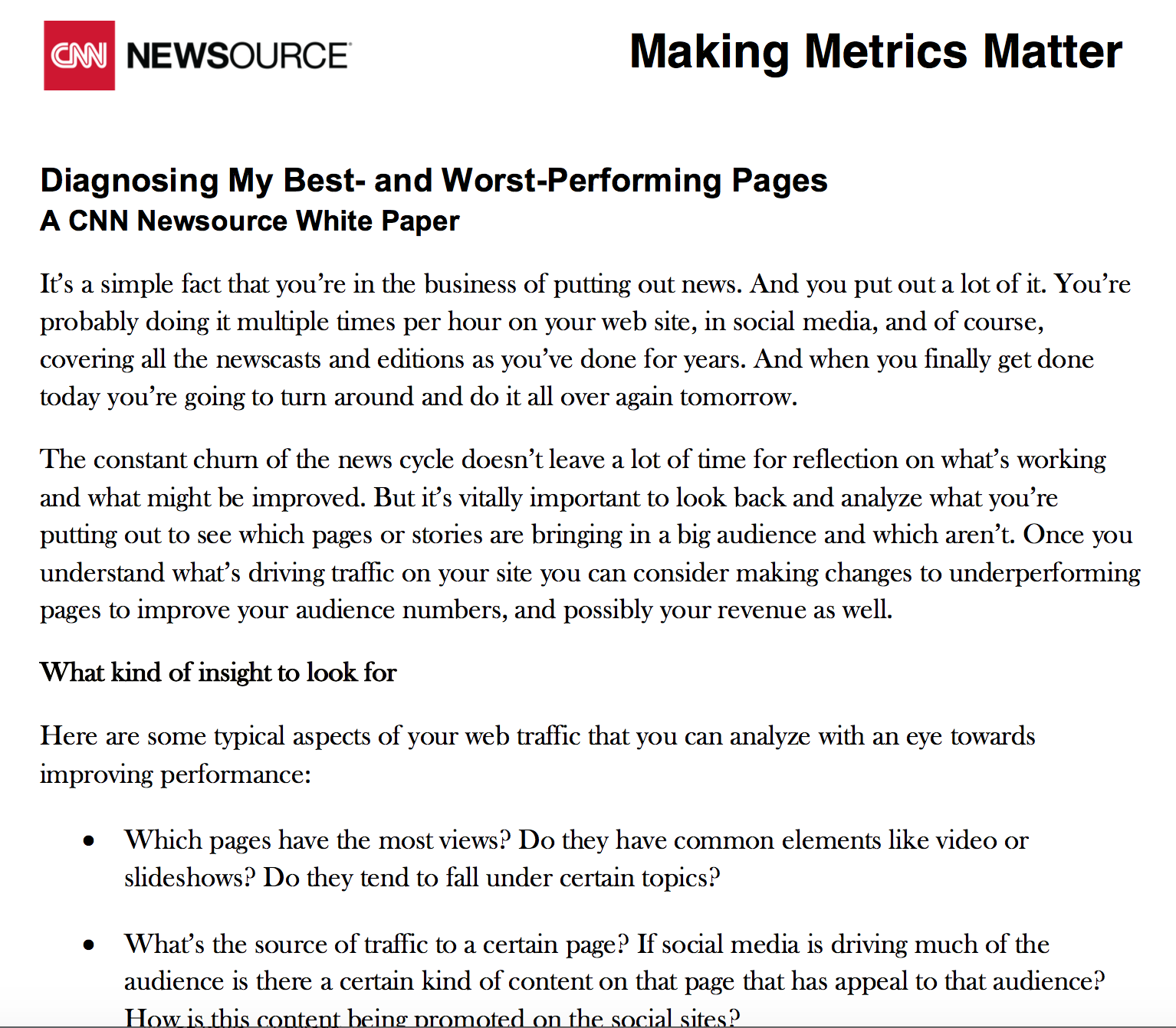 Diagnosing your website's best and worst pages